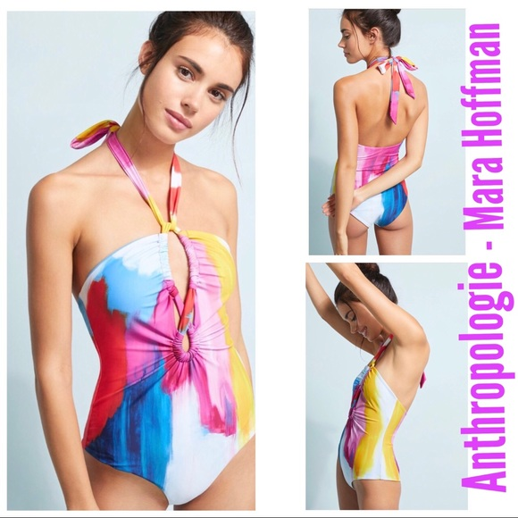 86394ba780075 ANTHRO Mara Hoffman Aya Keyhole One-Piece Swimsuit